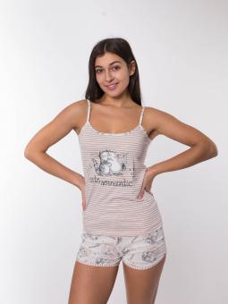 Піжама жіноча з шортами Lush 0010