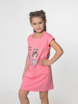 Трикотажна нічна сорочка для дівчинки